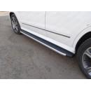 Пороги алюминиевые с пластиковой накладкой MERCEDES-BENZ GLK MERGLK220D14-07AL (ТСС)