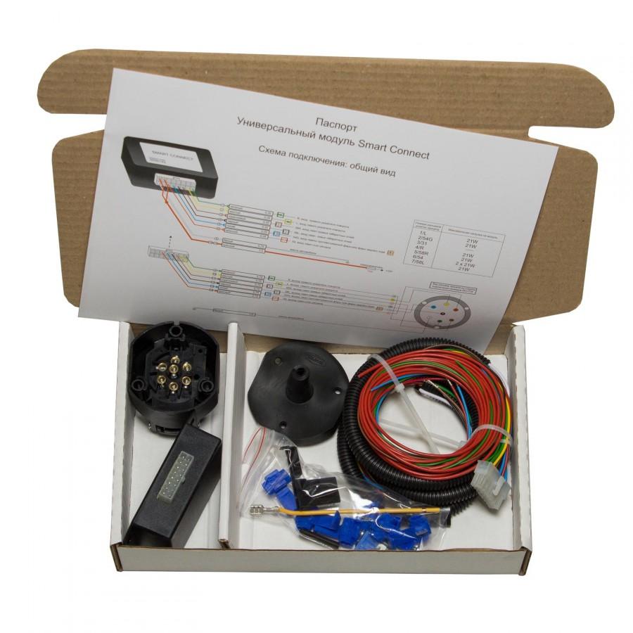 Блок согласования для подключения электрики к фаркопу с функцией отключения заднего противотуманного фонаря и датчиков парковки