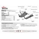 Стальная защита картера АвтоБроня HAVAL H2  111.09402.1