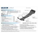 Алюминиевая защита картера АвтоБроня MITSUBISHI L200 333.4006.1