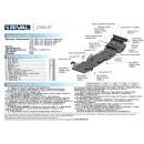 Алюминиевая защита картера АвтоБроня MITSUBISHI L200  333.4041.1