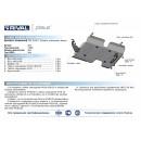 Алюминиевая защита картера АвтоБроня LAND ROVER FREELANDER 333.3102.1