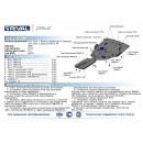 Алюминиевая защита картера АвтоБроня LEXUS GS  333.3212.1