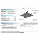 Алюминиевая защита картера АвтоБроня TOYOTA RAV4 333.5709.1