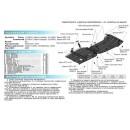 Алюминиевая защита картера АвтоБроня VOLKSWAGEN TOUAREG 333.5824.2
